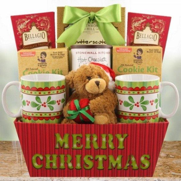 Cálida cesta de deseos de Navidad