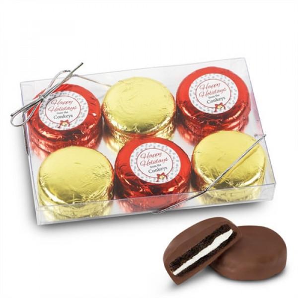 Fiesta Foiled Caja de galletas con logotipo personalizado