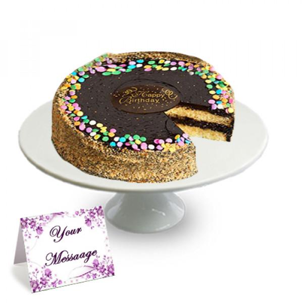 Pastel de Fudge de Oro Celebración