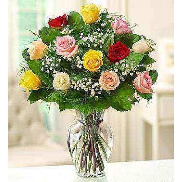Rosas surtidas de tallo largo premium