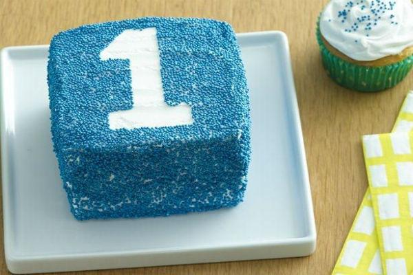 Feliz primer cumpleaños Smash pastel