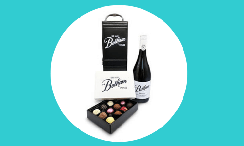 wine & dark chocolate