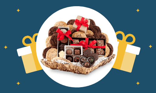 chocolate cokkies basket
