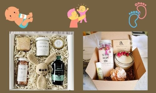 customazied new mom basket