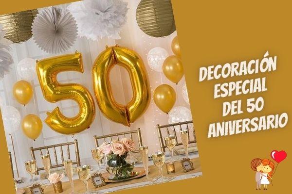 Special 50th anniversary decor