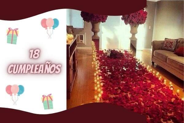 rosepatels and candle decor