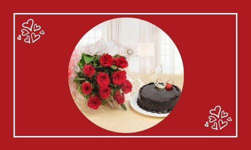 cake with beautiful flower