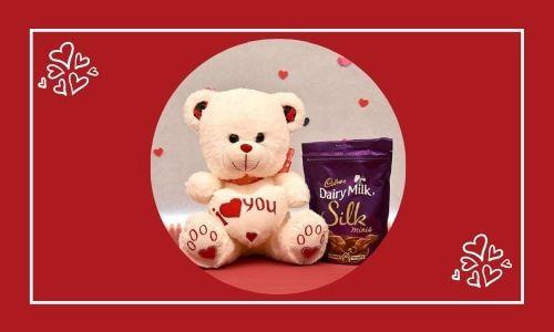 chocolate with teddy bear