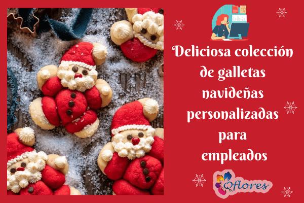 Deliciosa colección de galletas navideñas personalizadas para empleados