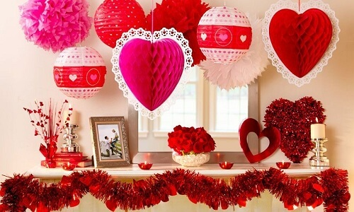 Decoraciones especiales para el día de San Valentín
