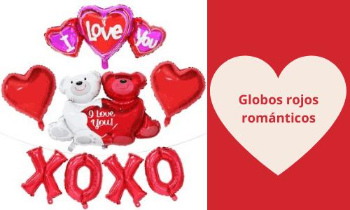 Globos rojos románticos
