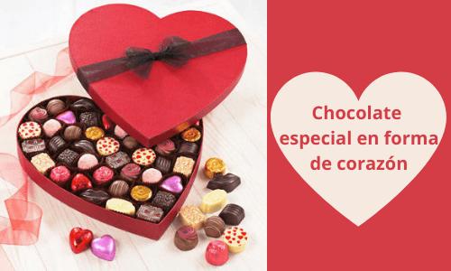 Chocolate especial en forma de corazón