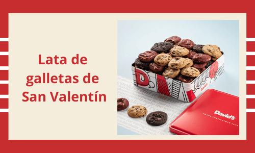 Lata de galletas de San Valentín