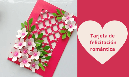 Tarjeta de felicitación romántica