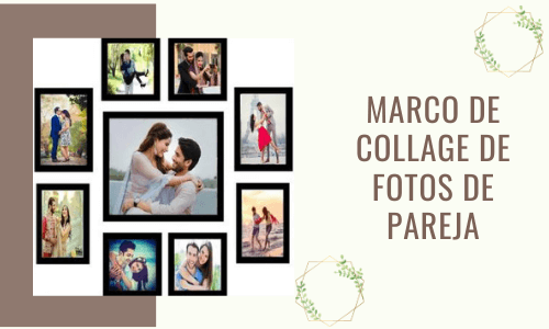 Marco de collage de fotos de pareja