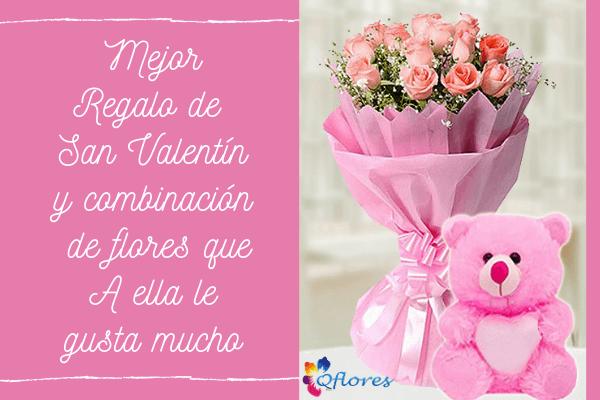 Mejor regalo de San Valentín y combinación de flores que le gusta mucho