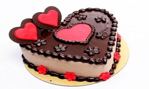 Pastel especial en forma de corazón