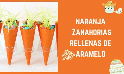 Zanahorias naranjas rellenas de caramelo