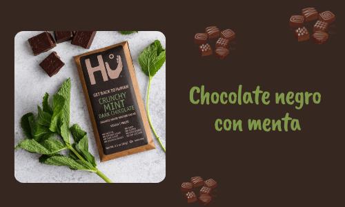 Chocolate amargo con menta crujiente