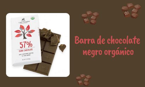 Barra de chocolate negro orgánico