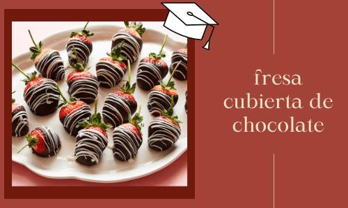 Fresa cubierta de chocolate