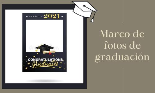 Marco de fotos de graduación