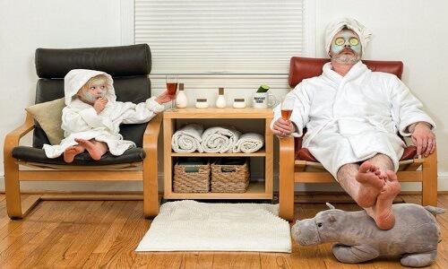 Spa en casa para tu papá