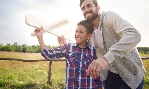 Crear recuerdos con papá