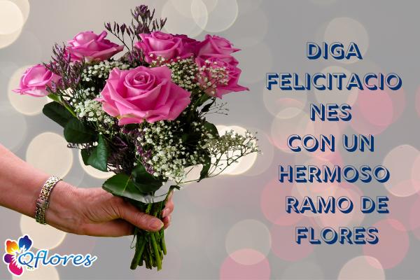 Felicitaciones Flor: Diga felicitaciones con un hermoso ramo de flores