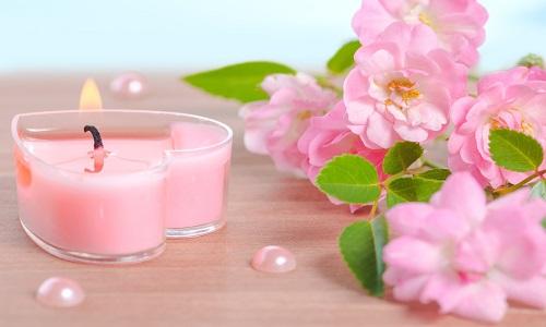Ramo de flores mixtas con Velas perfumadas