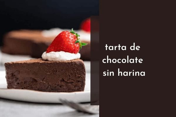 Pastel de chocolate sin harina sin gluten