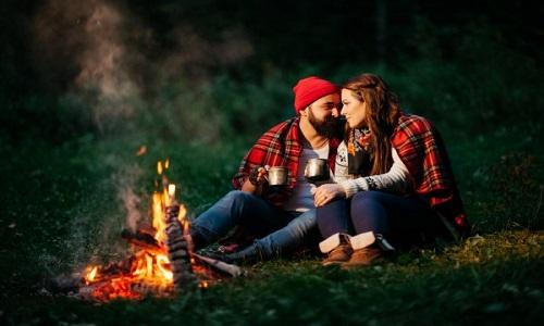bonfire at backyard