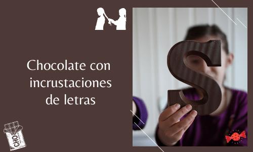 alphabet embedded chocolate