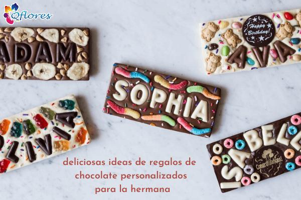 Deliciosas ideas de regalos de chocolate personalizados para la hermana