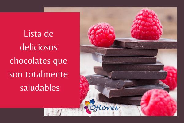 Lista de Chocolates que son totalmente saludables