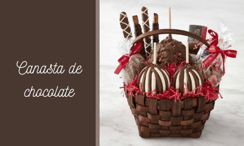 Cesta de regalo de chocolate